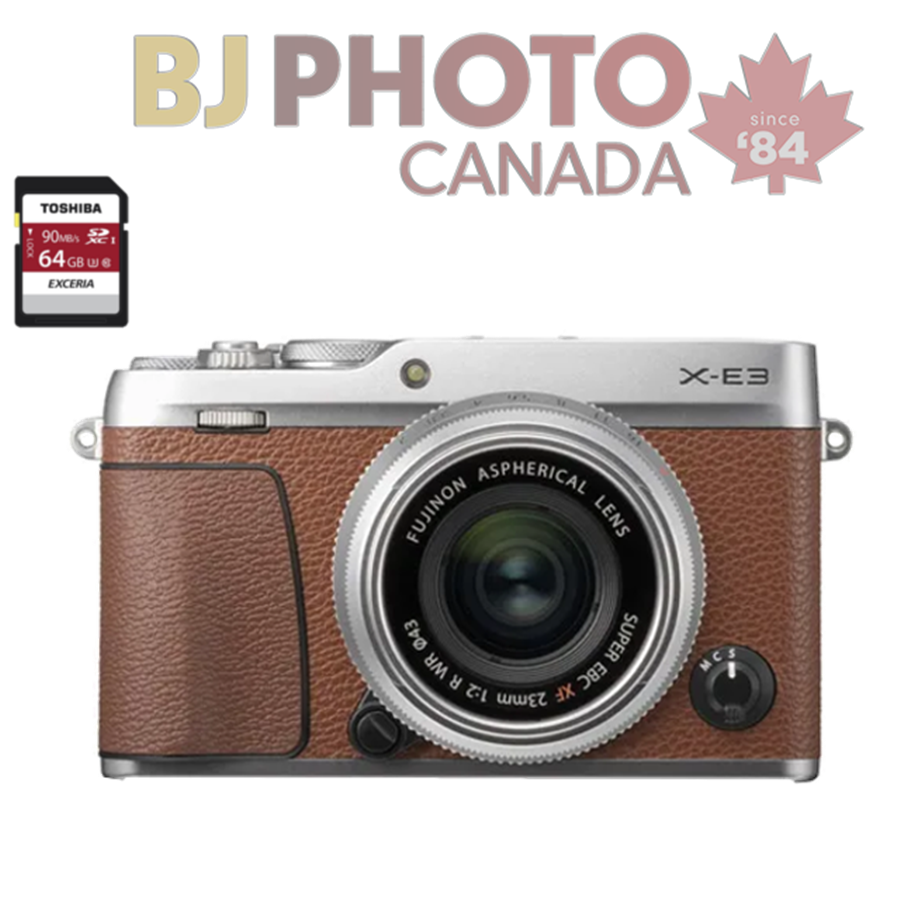 Bj Photo Canada Since 1984 Waterloo Ontarios Camera Store Fujifilm X E3 Kit Xf 23mm F2 Silver 35mm F14 Brown Xf23mm Lens 600019995